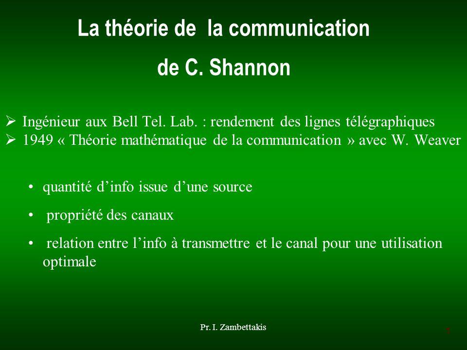 La théorie de la communication de C. Shannon