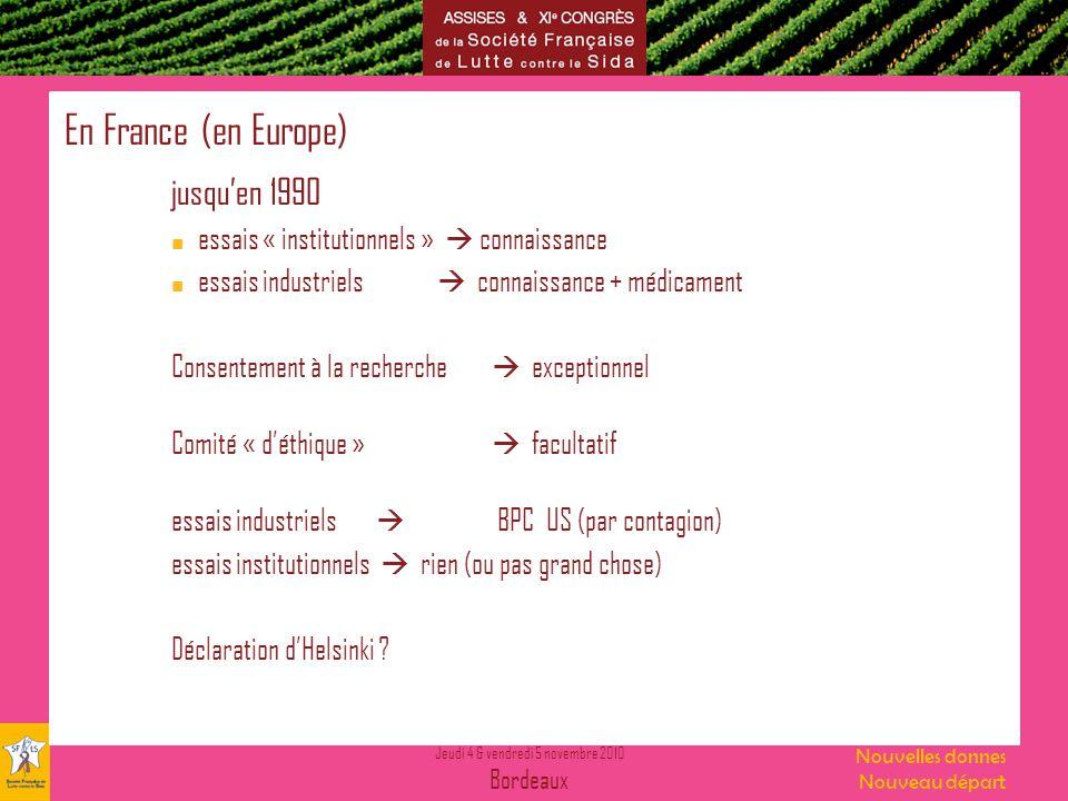 En France (en Europe) jusqu'en 1990