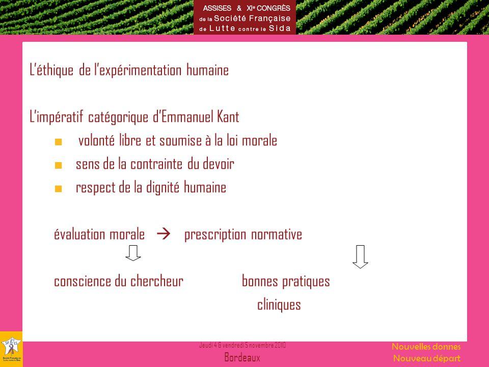 L'éthique de l'expérimentation humaine