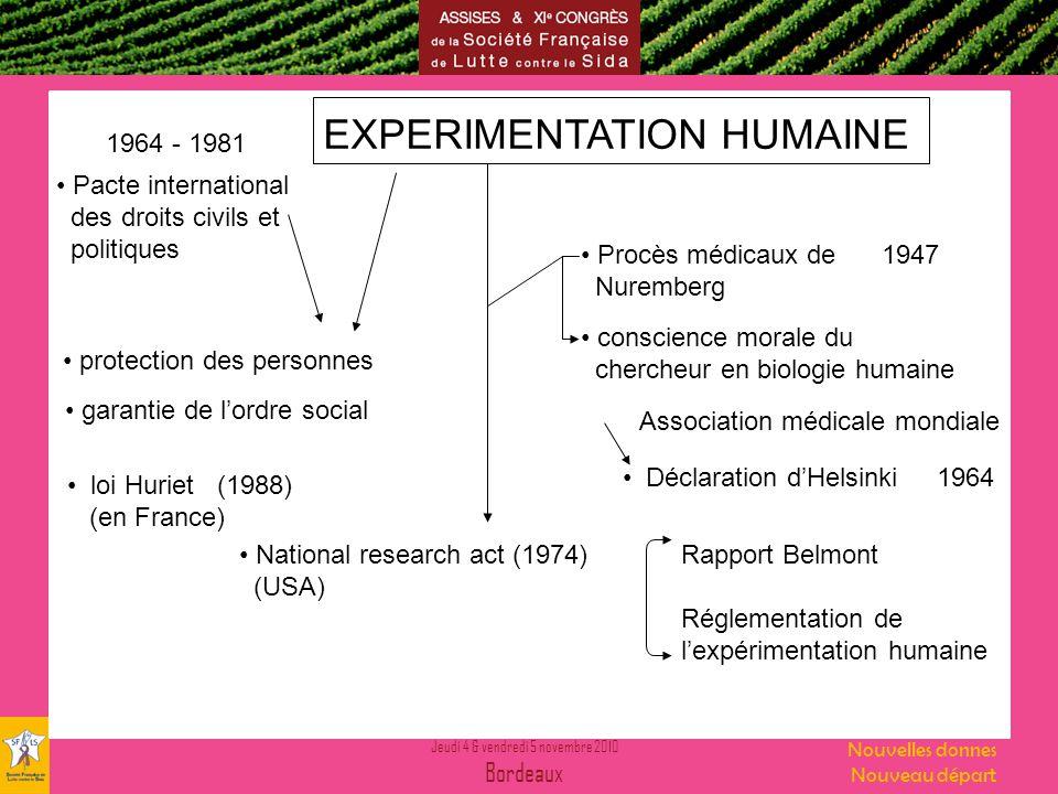 EXPERIMENTATION HUMAINE