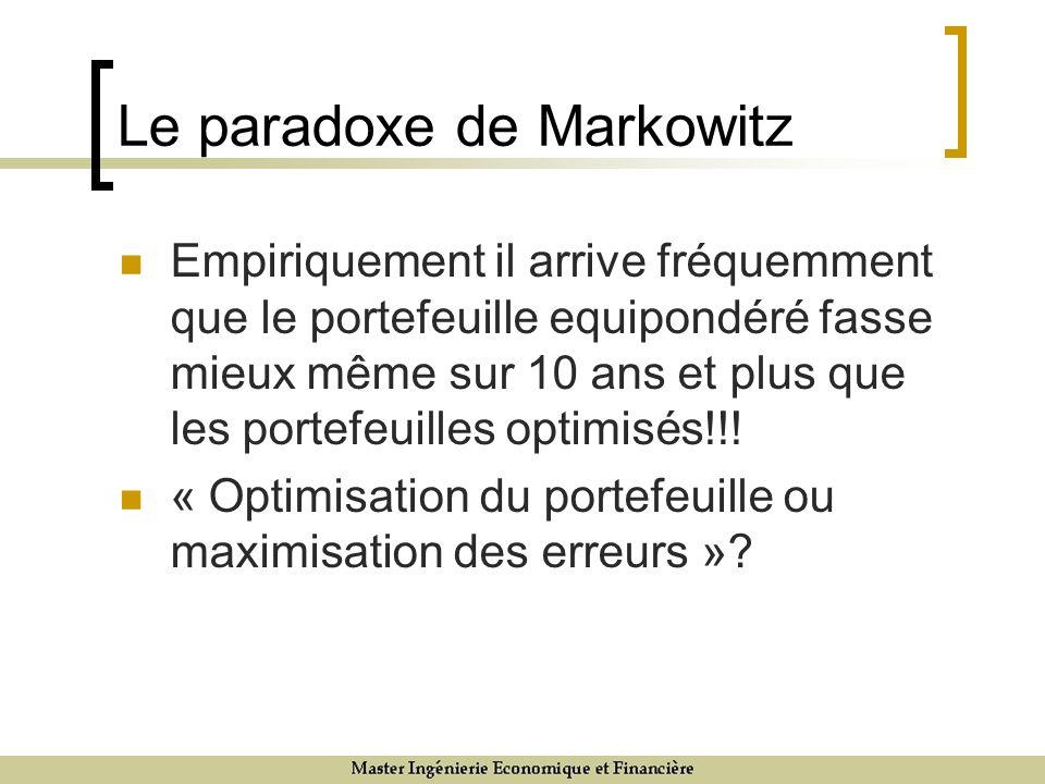 Le paradoxe de Markowitz