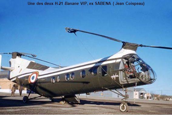 Une des deux H-21 Banane VIP, ex SABENA ( Jean Coispeau)