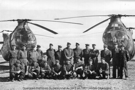 Quelques membres du personnel du GH 2 en 1961 (André Chauvière)