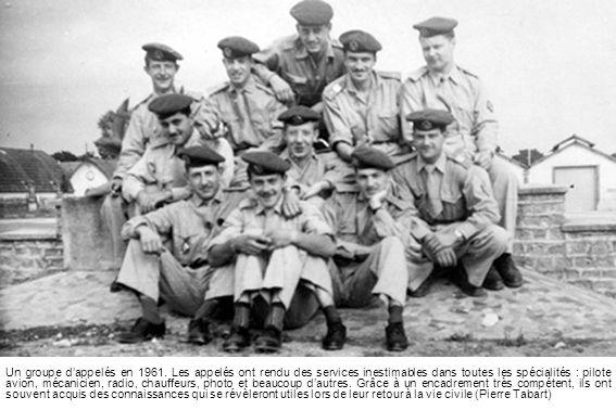 Un groupe d'appelés en 1961.