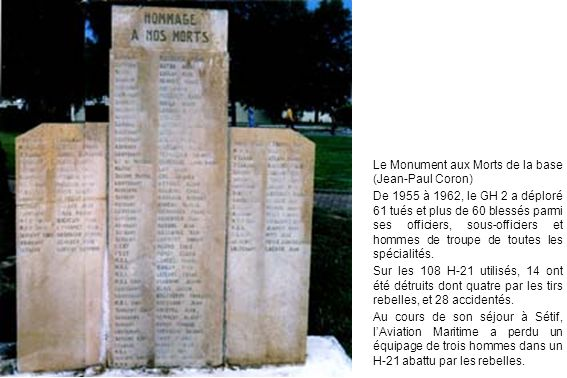 Le Monument aux Morts de la base (Jean-Paul Coron)
