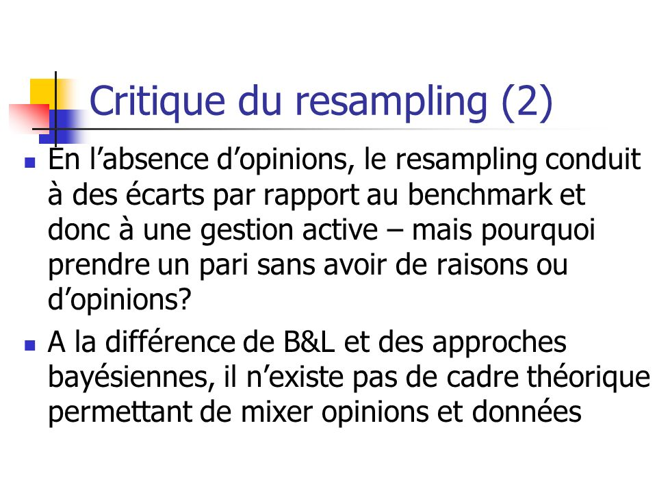 Critique du resampling (2)