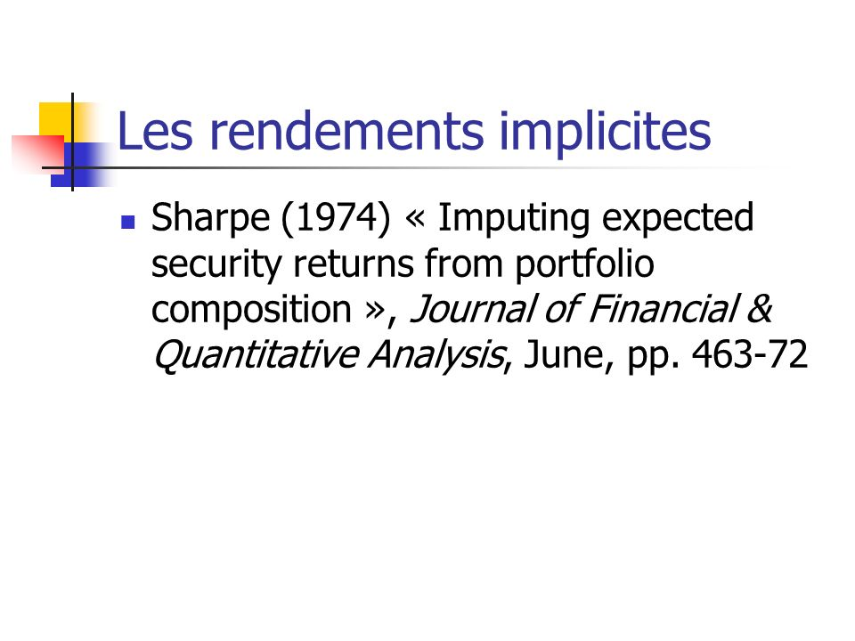 Les rendements implicites
