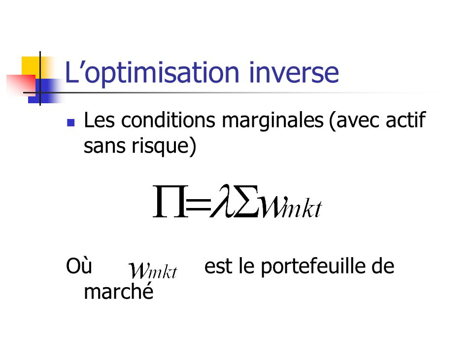 L'optimisation inverse