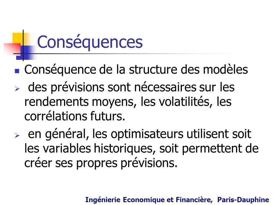 Conséquences Conséquence de la structure des modèles