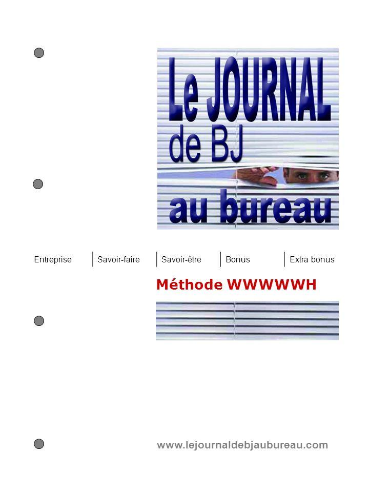 Méthode WWWWWH www.lejournaldebjaubureau.com Entreprise Savoir-faire