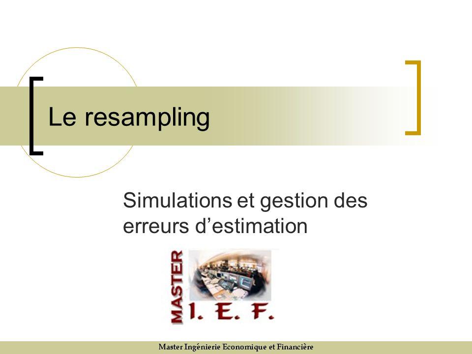 Simulations et gestion des erreurs d'estimation