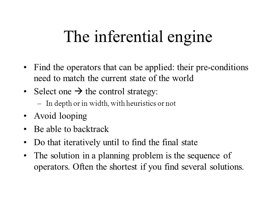 The inferential engine