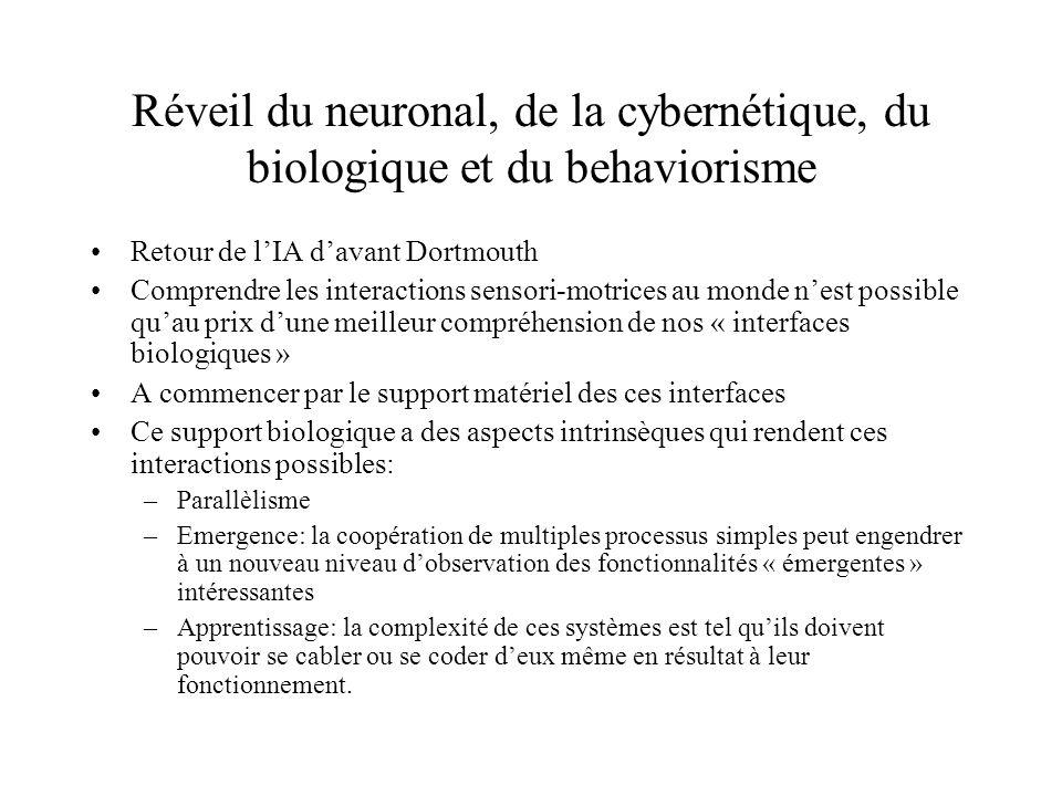 Réveil du neuronal, de la cybernétique, du biologique et du behaviorisme