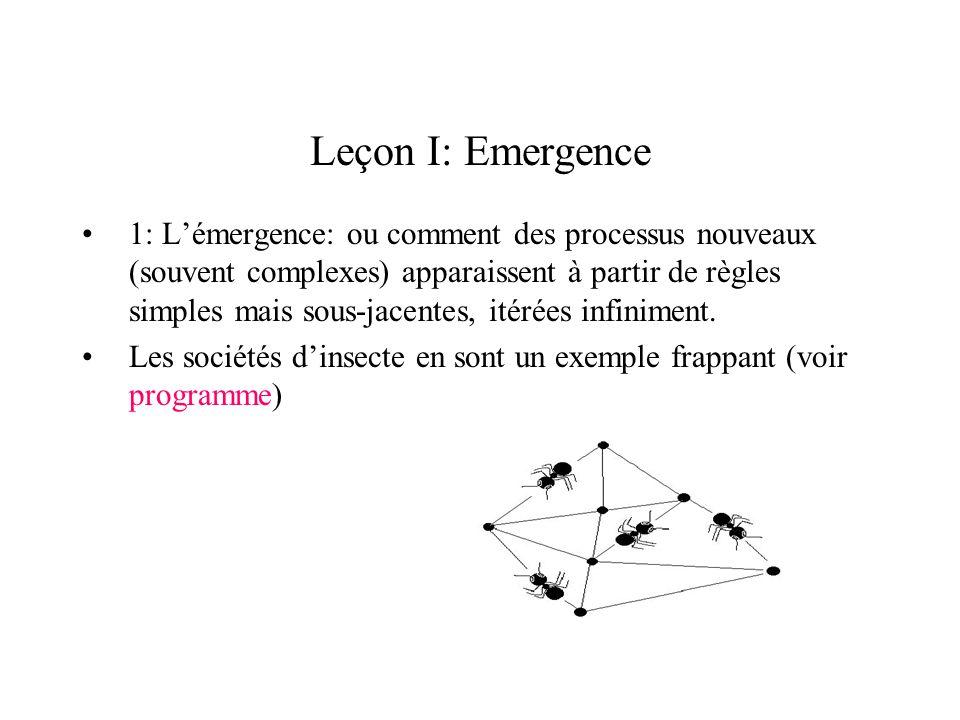Leçon I: Emergence