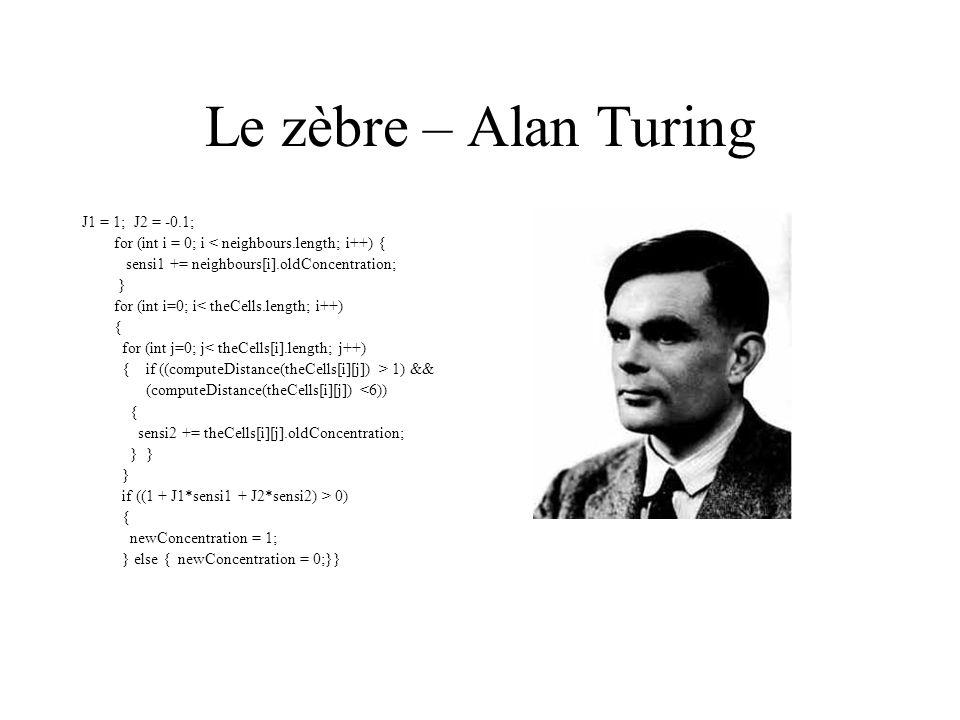 Le zèbre – Alan Turing J1 = 1; J2 = -0.1;