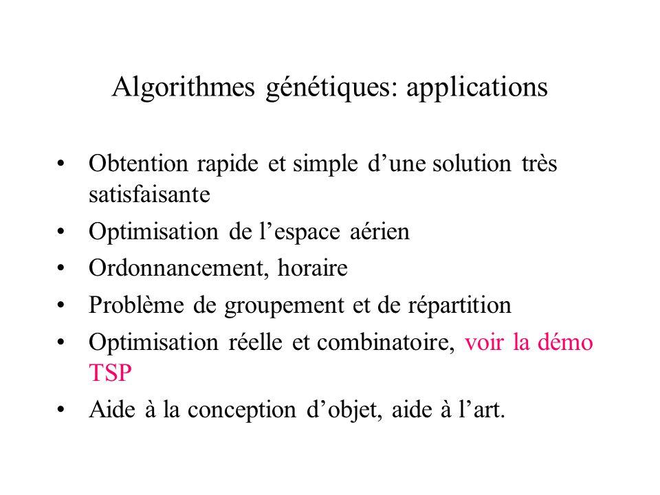 Algorithmes génétiques: applications