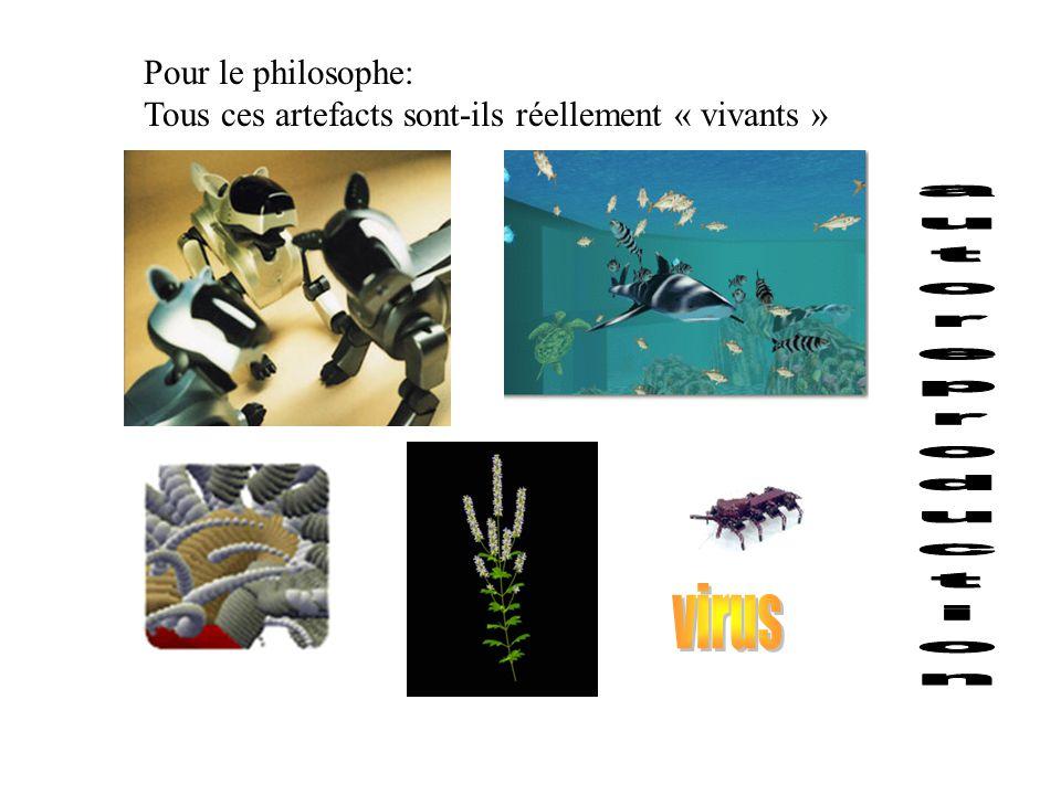 autoreproduction virus Pour le philosophe: