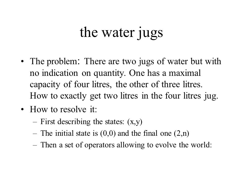 the water jugs