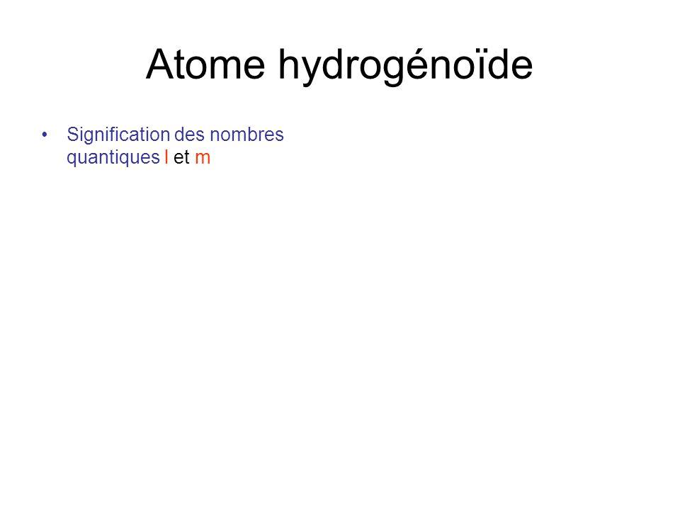 Atome hydrog no de potentiel de coulomb de sym trie for Nombre 13 signification