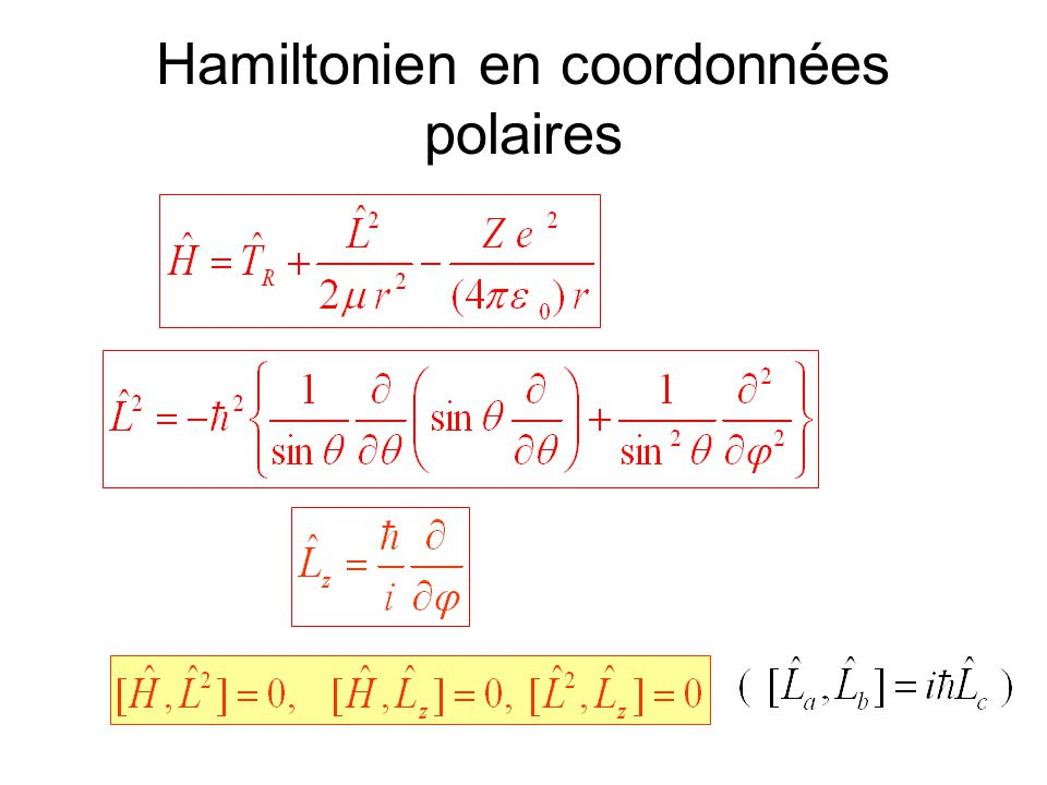 Hamiltonien en coordonnées polaires