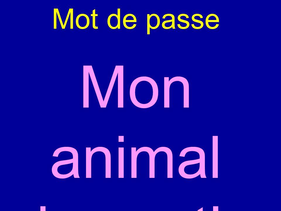 Mot de passe Mon animal domestique