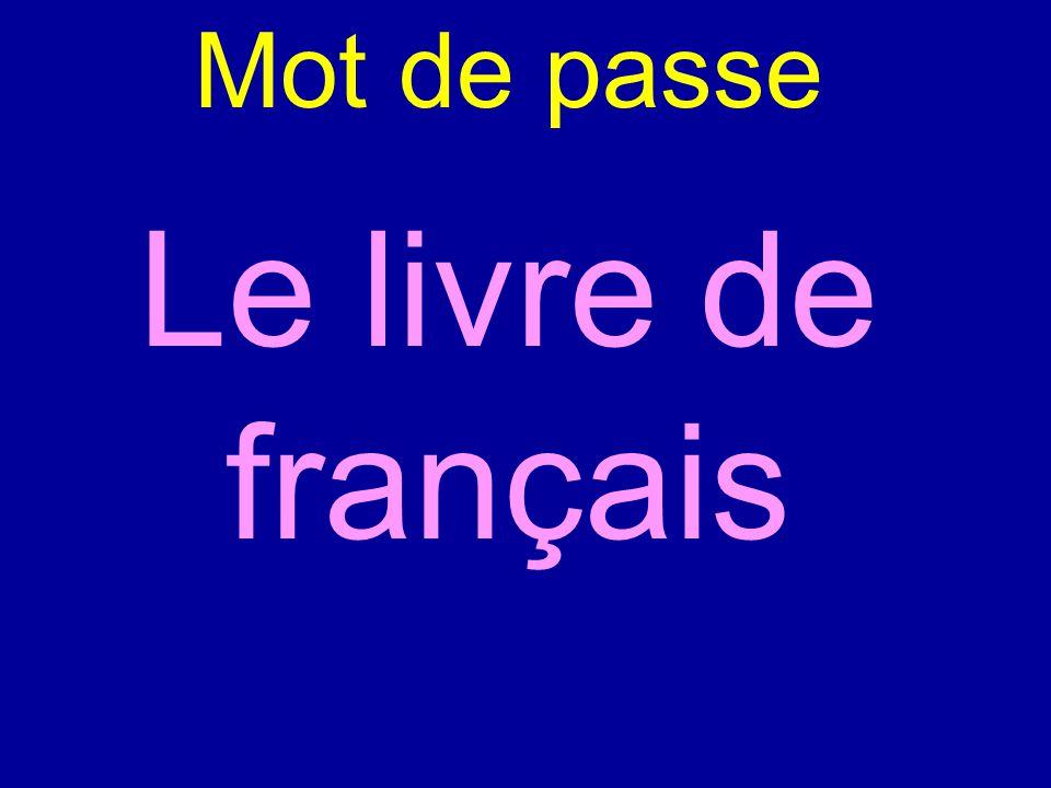 Mot de passe Le livre de français