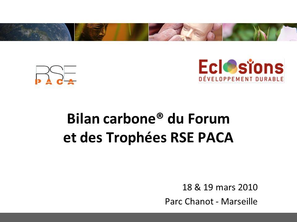 Bilan carbone® du Forum et des Trophées RSE PACA
