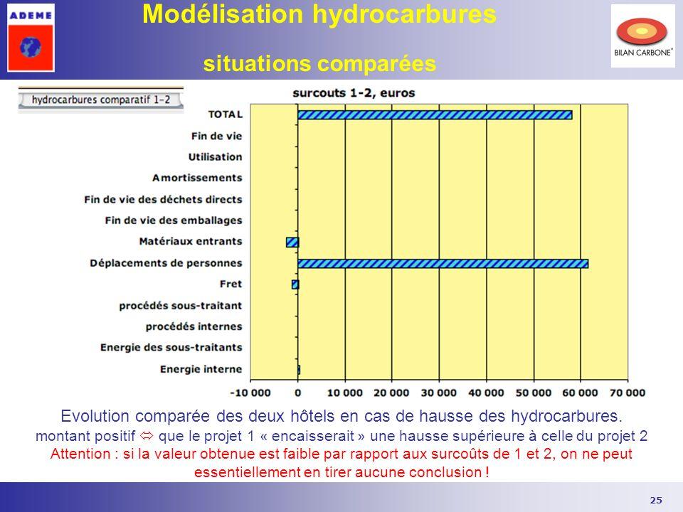 Modélisation hydrocarbures situations comparées