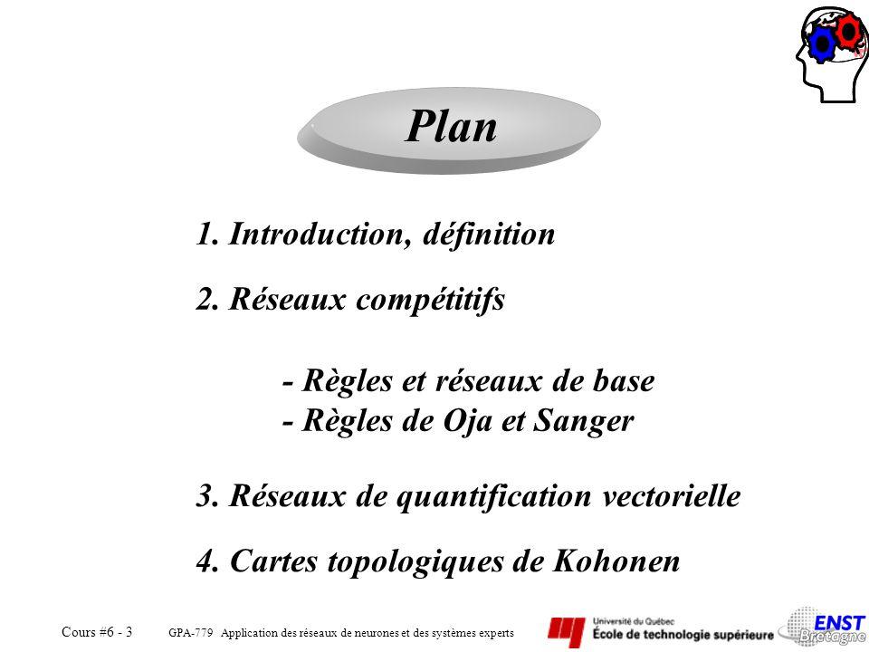 Plan 1. Introduction, définition 2. Réseaux compétitifs