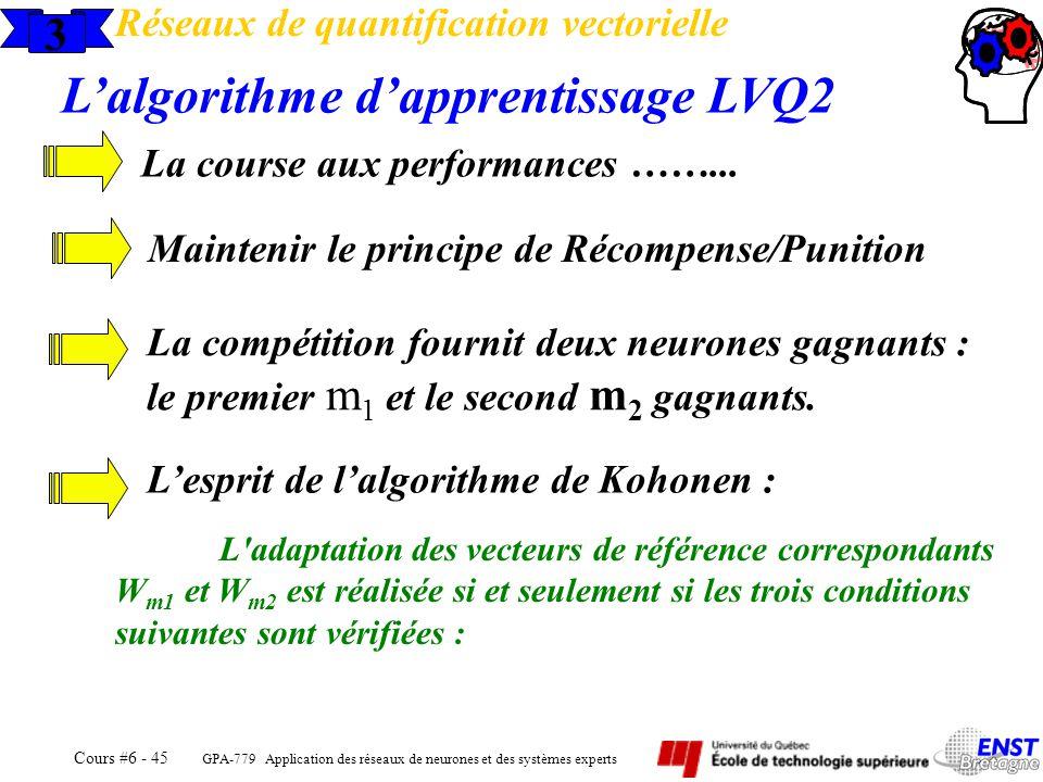 L'algorithme d'apprentissage LVQ2