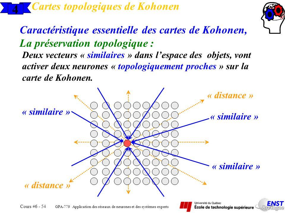 4 Cartes topologiques de Kohonen