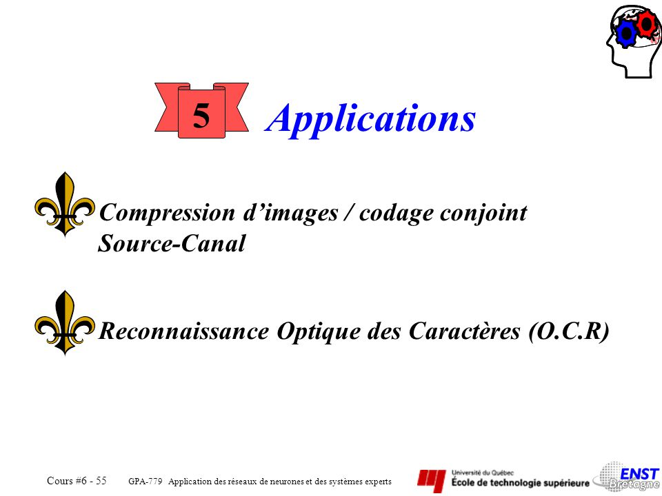 Applications 5 Compression d'images / codage conjoint Source-Canal