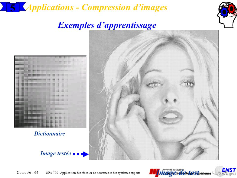 5 Applications - Compression d'images Exemples d'apprentissage