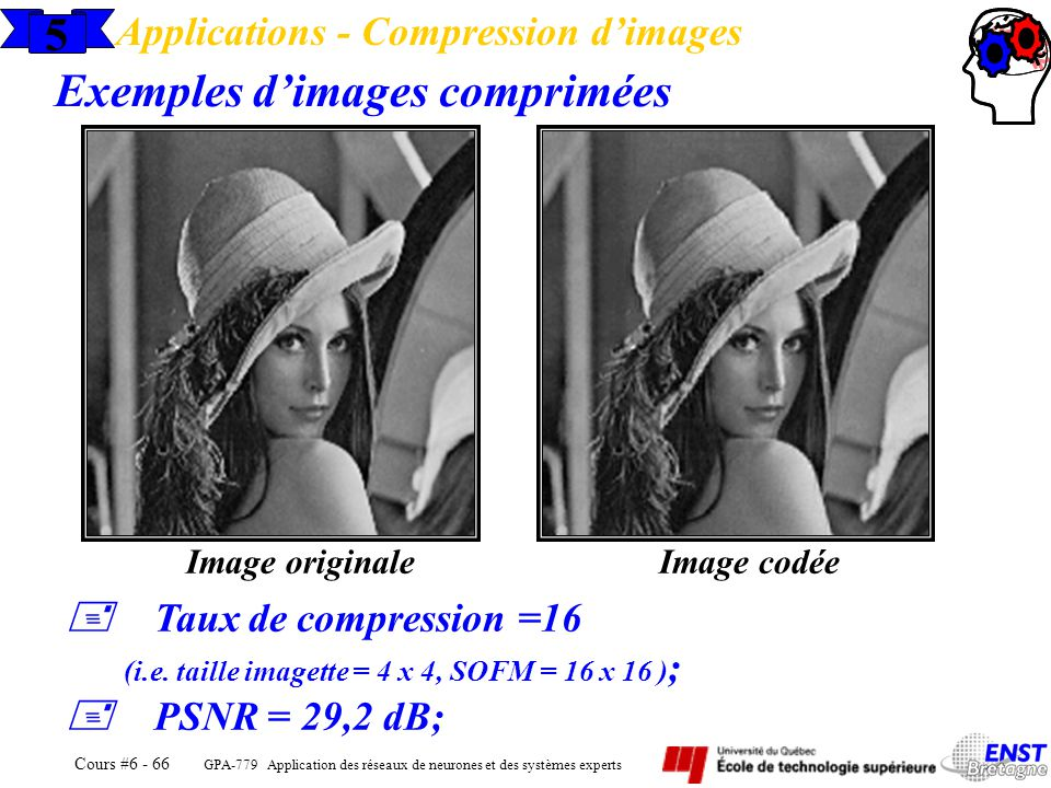 Exemples d'images comprimées