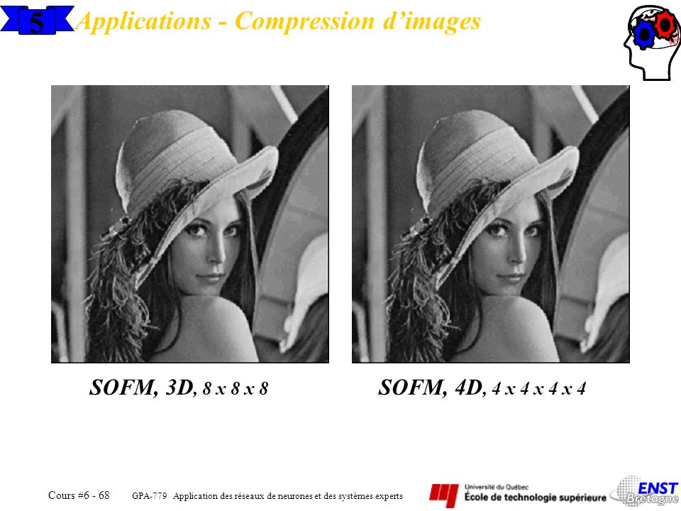 5 Applications - Compression d'images SOFM, 3D, 8 x 8 x 8