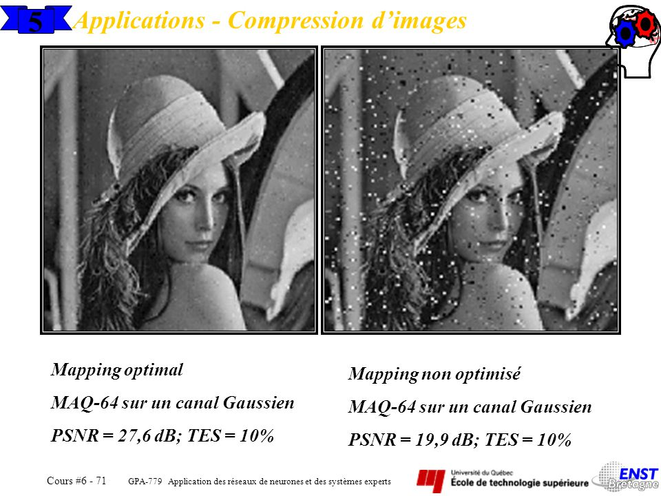 5 Applications - Compression d'images Mapping optimal