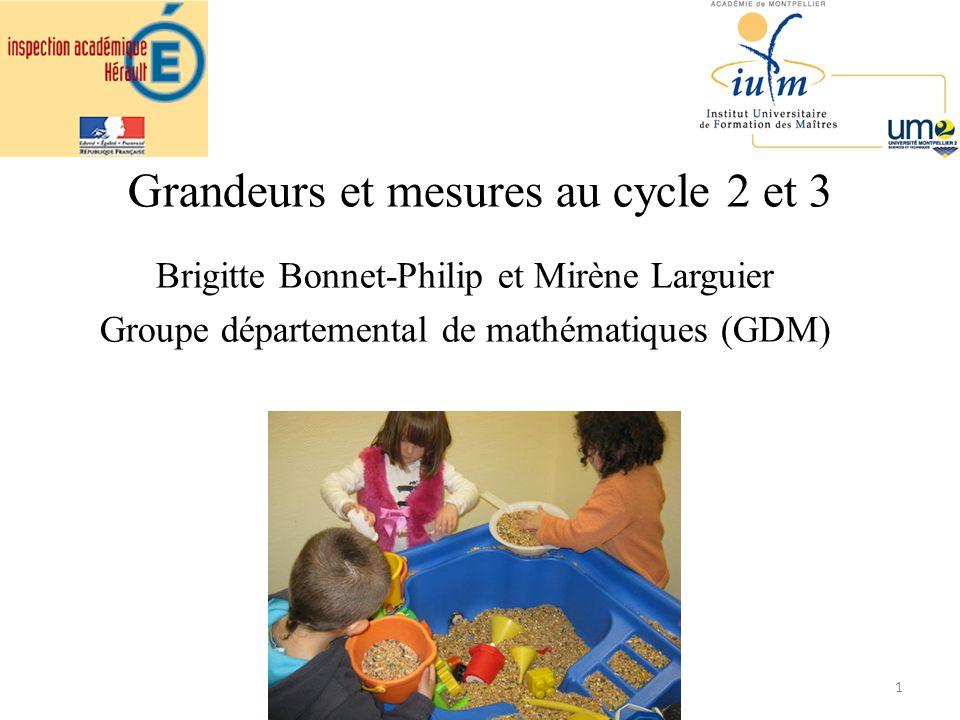 Grandeurs et mesures au cycle 2 et 3