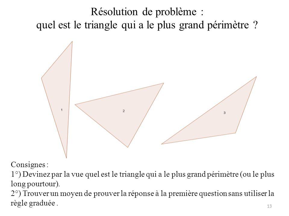 Résolution de problème : quel est le triangle qui a le plus grand périmètre