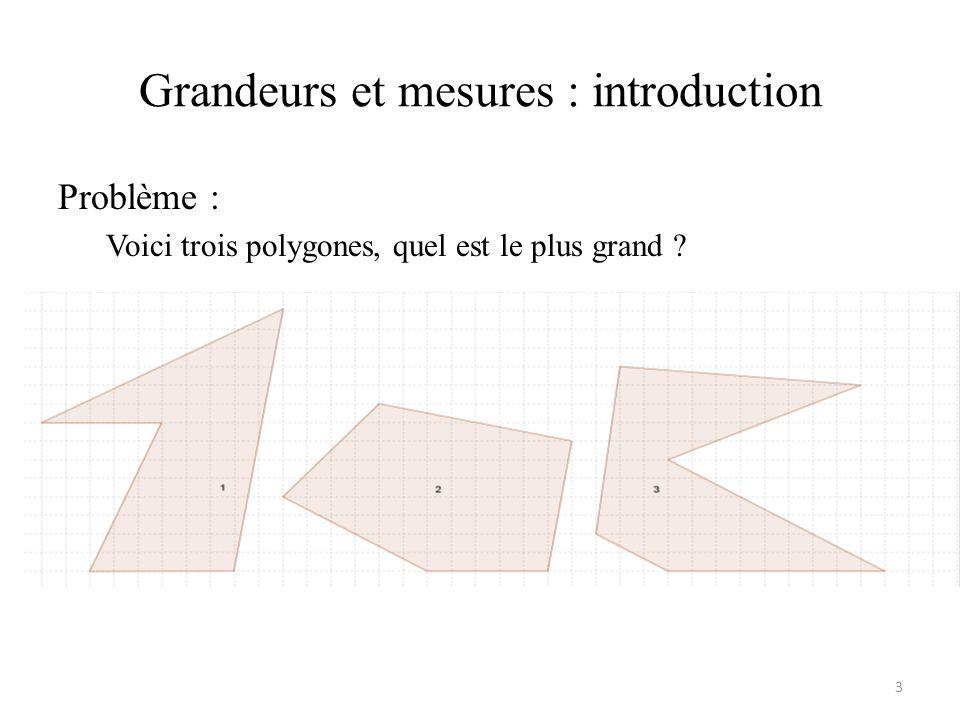 Grandeurs et mesures : introduction