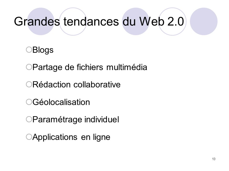 Grandes tendances du Web 2.0