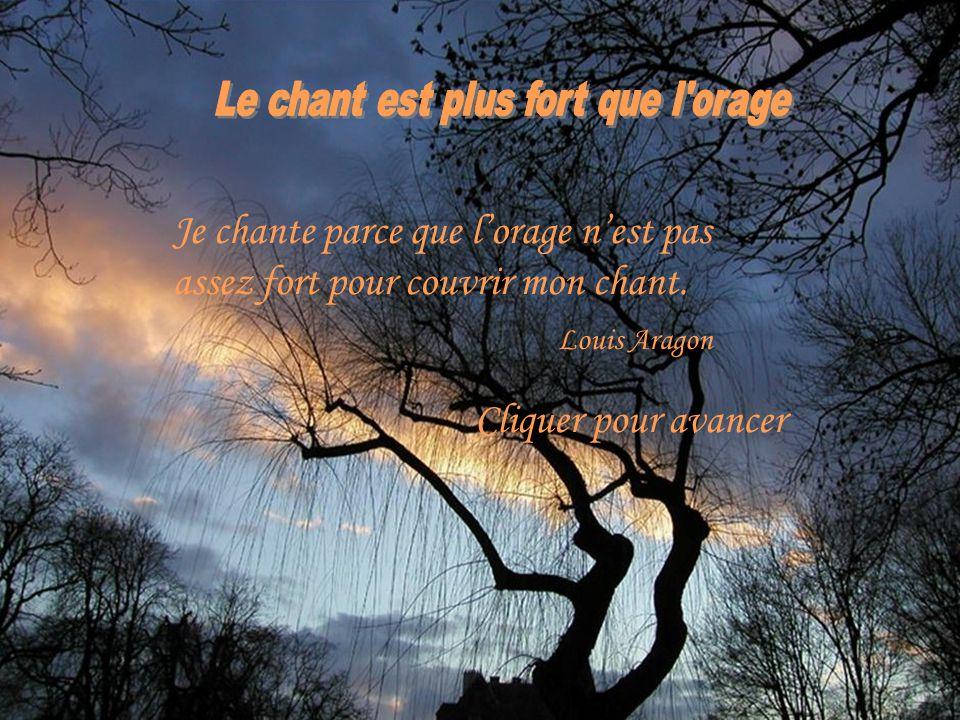 Le chant est plus fort que l orage