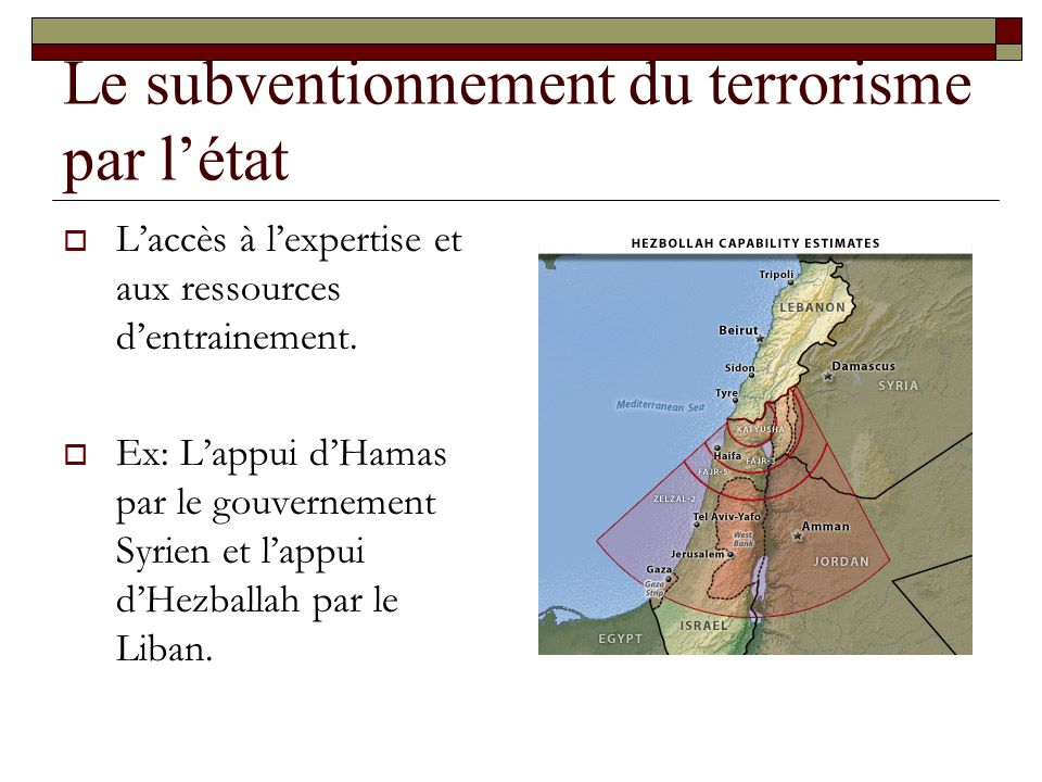 Le subventionnement du terrorisme par l'état