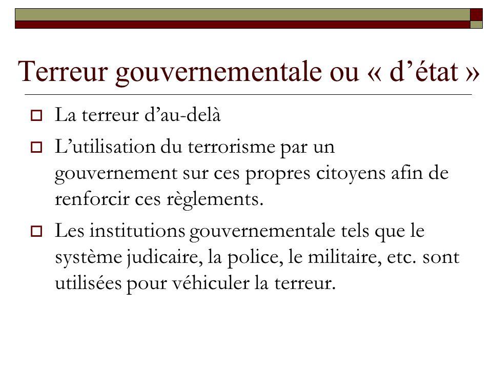 Terreur gouvernementale ou « d'état »