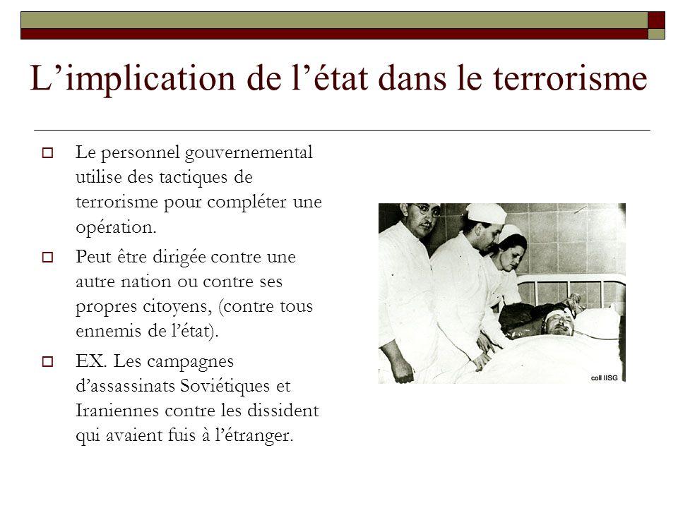 L'implication de l'état dans le terrorisme