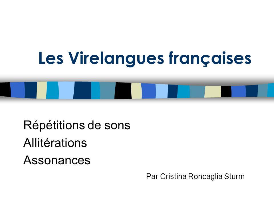 Les Virelangues françaises