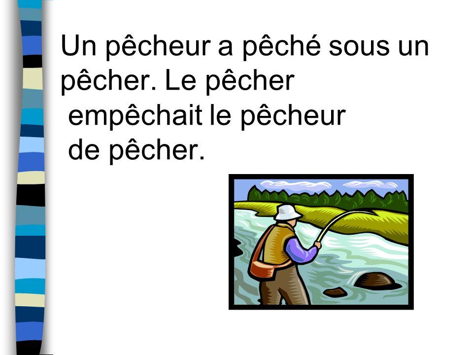 Un pêcheur a pêché sous un pêcher