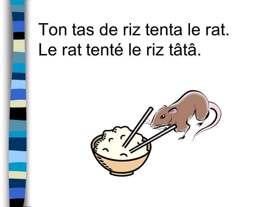 Ton tas de riz tenta le rat. Le rat tenté le riz tâtâ.