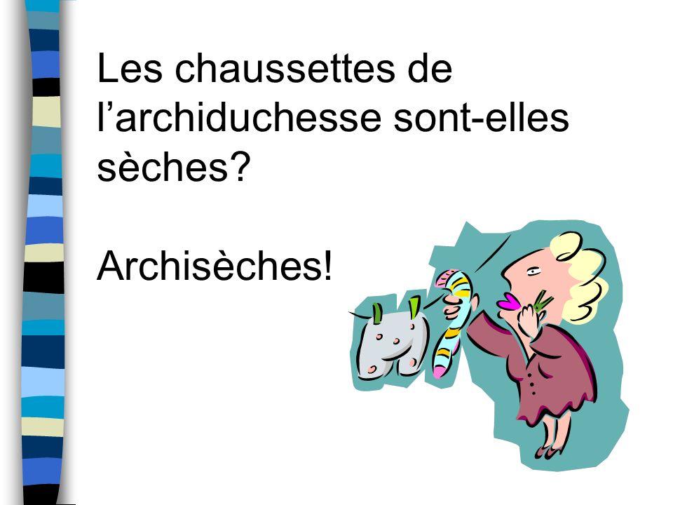 Les chaussettes de l'archiduchesse sont-elles sèches Archisèches!