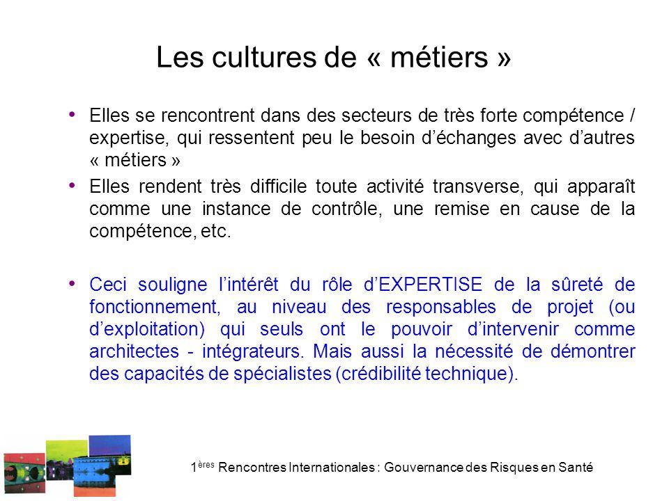 Les cultures de « métiers »