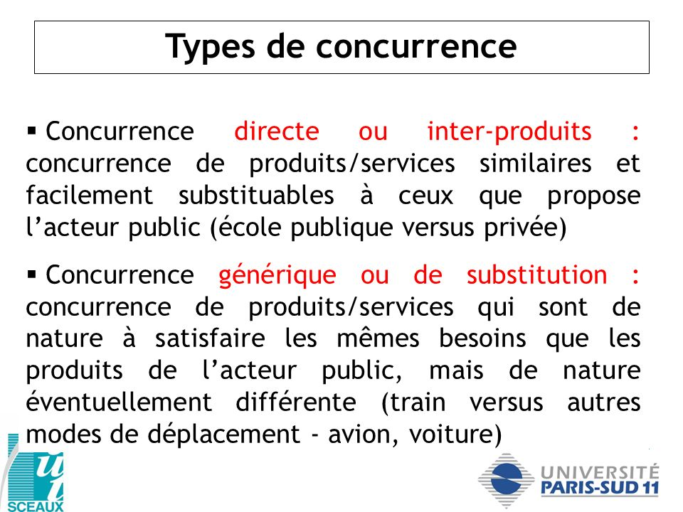 Types de concurrence